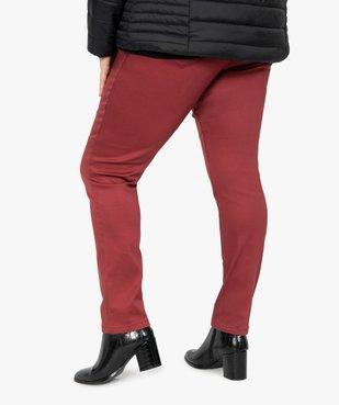 Pantalon femme coupe slim en maille extensible vue3 - GEMO (G TAILLE) - GEMO