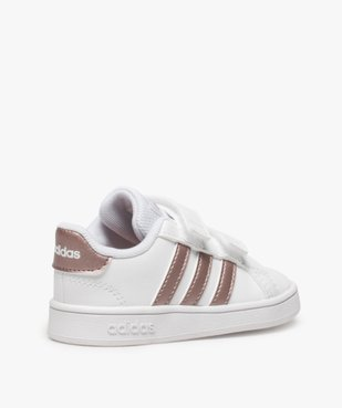 Baskets fille à scratch Grand Court Adidas vue4 - ADIDAS - Nikesneakers