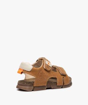 Sandales garçon tout terrain en cuir à scratchs - Bopy vue4 - BOPY - Nikesneakers
