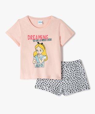 Pyjashort fille avec motif Alice au pays des merveilles - Disney vue1 - DISNEY DTR - GEMO