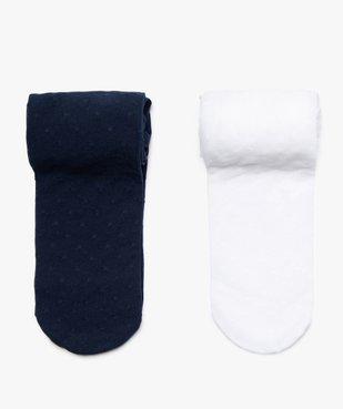 Collants bébé fille à motifs plumetis (lot de 2) vue1 - Nikesneakers(BEBE DEBT) - Nikesneakers