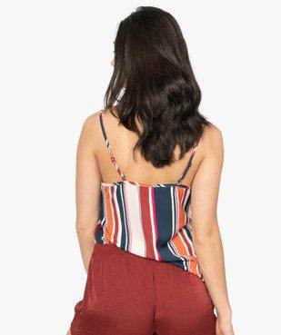 Haut de pyjama femme en matière recyclée à col dentelle vue3 - GEMO C4G FEMME - GEMO