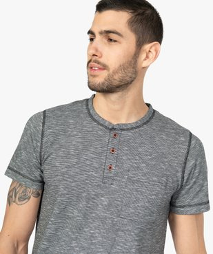 Pyjashort homme bicolore avec haut à col tunisien vue2 - GEMO(HOMWR HOM) - GEMO