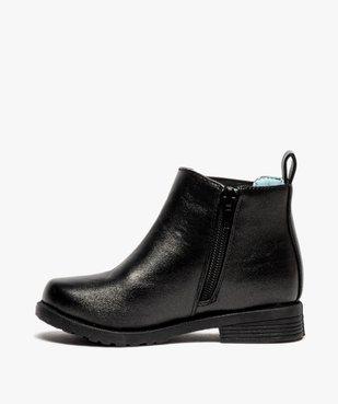 Boots fille zippés détails cloutés – La Reine des Neiges vue3 - REINE DES NEIGE - GEMO