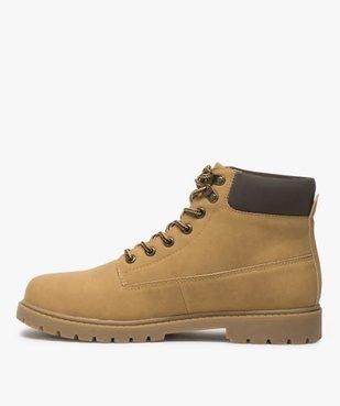 Boots homme à semelle crantée et lacets - Les Supaires à col contrastant et lacets bicolores vue3 - GEMO (CASUAL) - GEMO