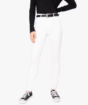 Pantalon femme façon jean coupe slim vue2 - GEMO(FEMME PAP) - GEMO