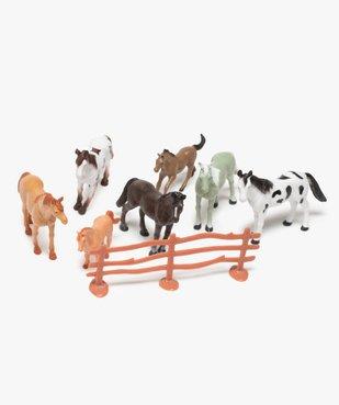 Figurines chevaux (lot de 12) Kim Play vue2 - KIM PLAY - GEMO