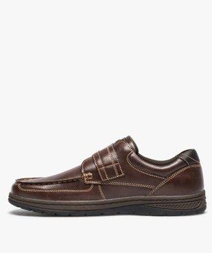 Chaussures bateau homme confort fermeture scratch vue3 - GEMO (CONFORT) - GEMO
