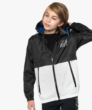 Blouson garçon coupe-vent bicolore avec capuche vue1 - Nikesneakers (JUNIOR) - Nikesneakers
