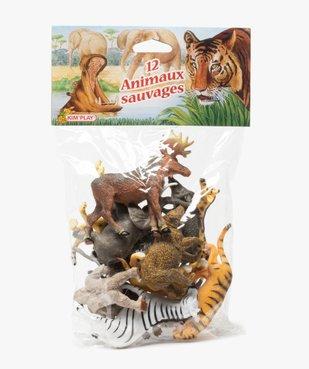 Figurines animaux sauvages (lot de 12) – Kim Play vue1 - KIM PLAY - GEMO