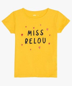 Tee-shirt fille avec motif pailleté sur l'avant vue1 - GEMO (ENFANT) - GEMO