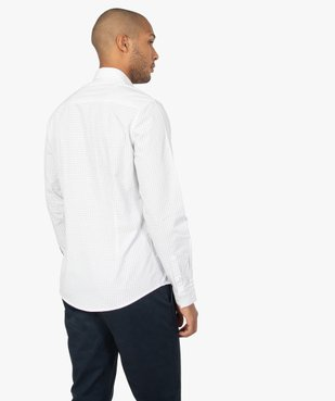 Chemise homme à petits motifs coupe slim vue3 - GEMO (HOMME) - GEMO