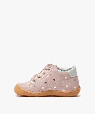 Chaussures premiers pas bébé fille en cuir vue3 - Nikesneakers(BEBE DEBT) - Nikesneakers