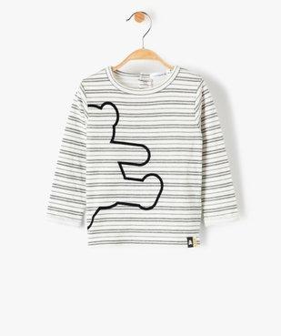 Tee-shirt bébé garçon à rayures – Lulu Castagnette vue1 - LULUCASTAGNETTE - GEMO