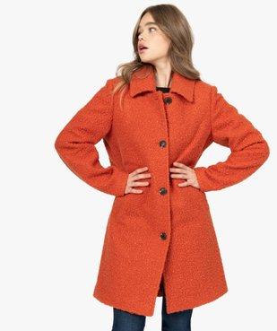 Manteau femme mi-long en maille bouclette vue1 - Nikesneakers(FEMME PAP) - Nikesneakers