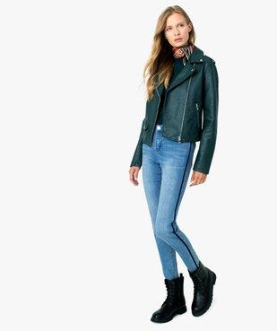 Jean femme slim à bandes latérales en velours vue5 - Nikesneakers(FEMME PAP) - Nikesneakers
