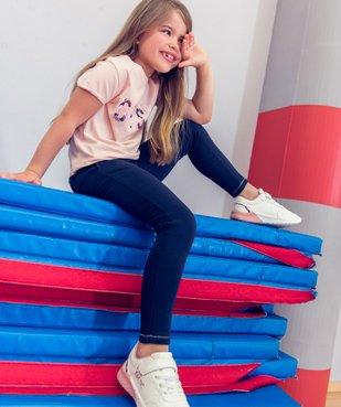 Baskets fille bicolores + Sac de Gym offert vue6 - GEMO (ENFANT) - GEMO