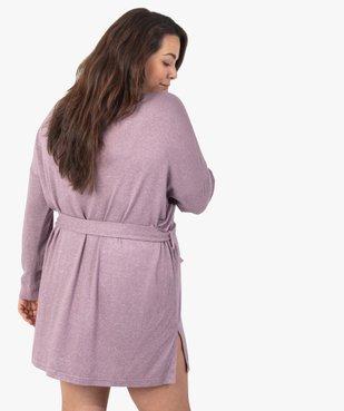 Veste d'intérieur femme en maille douce avec ceinture à nouer vue3 - GEMO(HOMWR FEM) - GEMO