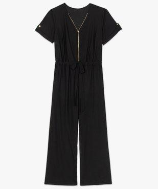 Combinaison pantalon femme ouverture zippée vue4 - GEMO (G TAILLE) - GEMO