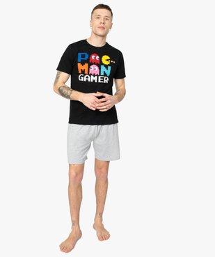 Pyjashort homme en coton - Pac-Man vue1 - PAC-MAN - GEMO