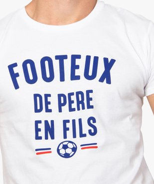 Tee-shirt homme à manches courtes message humour football vue2 - GEMO C4G HOMME - GEMO