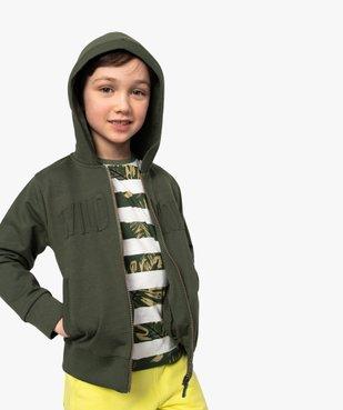 Sweat garçon à capuche avec inscription en relief vue1 - GEMO (ENFANT) - GEMO