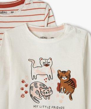 Tee-shirt bébé fille à manches longues (lot de 2) vue2 - Nikesneakers(BEBE DEBT) - Nikesneakers