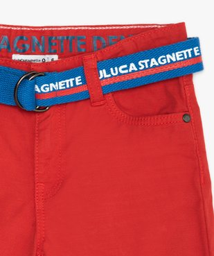Bermuda garçon avec ceinture double boucle – Lulu Castagnette vue3 - LULUCASTAGNETTE - GEMO