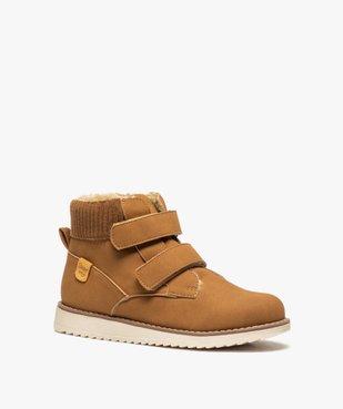 Boots garçon unis à col rembourré et doublure chaude vue2 - Nikesneakers (ENFANT) - Nikesneakers