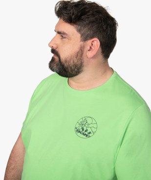 Tee-shirt homme avec macaron fantaisie vue2 - GEMO (G TAILLE) - GEMO