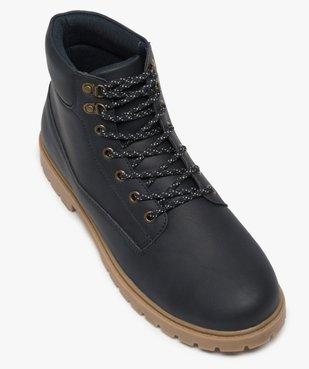 Boots homme à semelle crantée et lacets - Les Supaires à semelle contrastante et lacets bicolores vue5 - GEMO (CASUAL) - GEMO