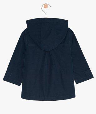 Manteau bébé fille zippé, fin, à capuche et doublure imprimée vue4 - GEMO(BEBE DEBT) - GEMO