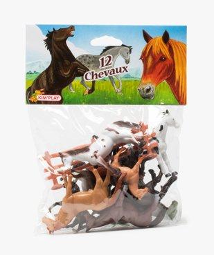 Figurines chevaux (lot de 12) Kim Play vue1 - KIM PLAY - GEMO