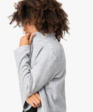 Manteau court femme en matière extensible chinée vue5 - GEMO(FEMME PAP) - GEMO