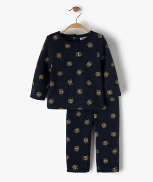 Pyjama bébé garçon 2 pièces imprimé lionceaux vue1 - GEMO(BB COUCHE) - GEMO