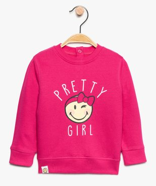 Sweat bébé fille en coton imprimé - SmileyWorld vue1 - SMILEY - GEMO
