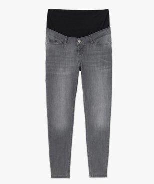 Jean de grossesse slim délavé à bandeau stretch taille haute vue4 - Nikesneakers (MATER) - Nikesneakers