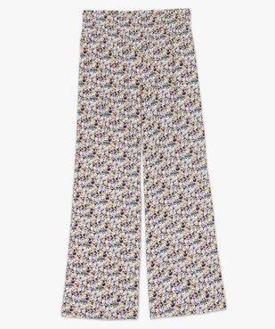 Pantalon de grossesse ample à fleurs et smocks à la taille vue4 - GEMO (MATER) - GEMO