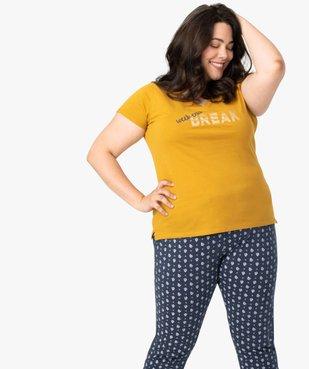 Pyjama femme avec message humoristique vue1 - GEMO(HOMWR FEM) - GEMO