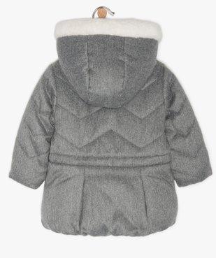 Parka bébé fille à doublure peluche et détails pailletés vue3 - GEMO(BEBE DEBT) - GEMO