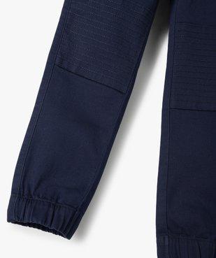 Pantalon garçon avec empiècements surpiqués aux genoux vue3 - GEMO C4G GARCON - GEMO