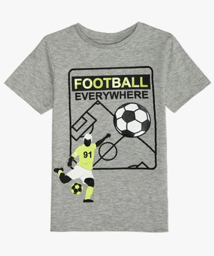 Tee-shirt garçon avec motif football vue1 - GEMO (ENFANT) - GEMO