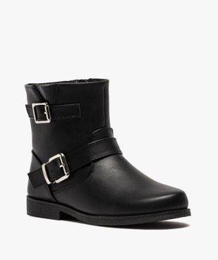 Boots fille unis avec boucles fantaisies fermeture zippée vue2 - Nikesneakers (ENFANT) - Nikesneakers