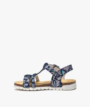 Sandales fille en cuir à détails métallisés fermeture boucle vue3 - GEMO (ENFANT) - GEMO