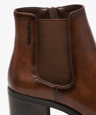 Boots femme unies à talon style chelsea – Tom Tailor vue6 - TOM TAILOR - GEMO