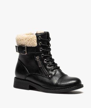 Boots fille à col rembourré fermeture lacets et zip vue2 - GEMO (ENFANT) - GEMO