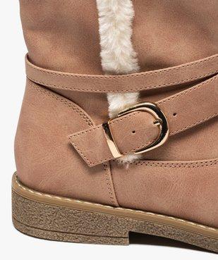 Boots fourrés femme unis à bride décorative vue6 - GEMO (CASUAL) - GEMO
