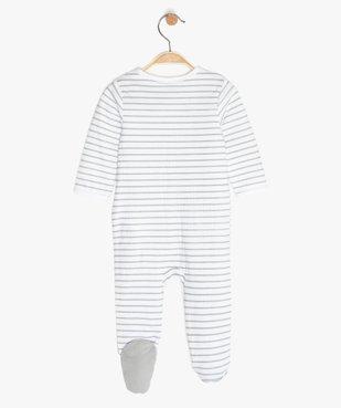 Pyjama bébé garçon à rayures avec motif panda vue3 - GEMO C4G BEBE - GEMO