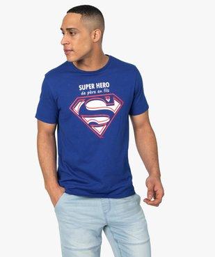 Tee-shirt homme avec motif et inscription - Superman vue1 - SUPERMAN - GEMO