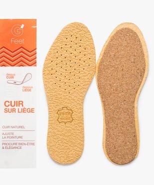 Semelles confort en cuir sur liège vue2 - Nikesneakers(ENTRETIEN) - Nikesneakers
